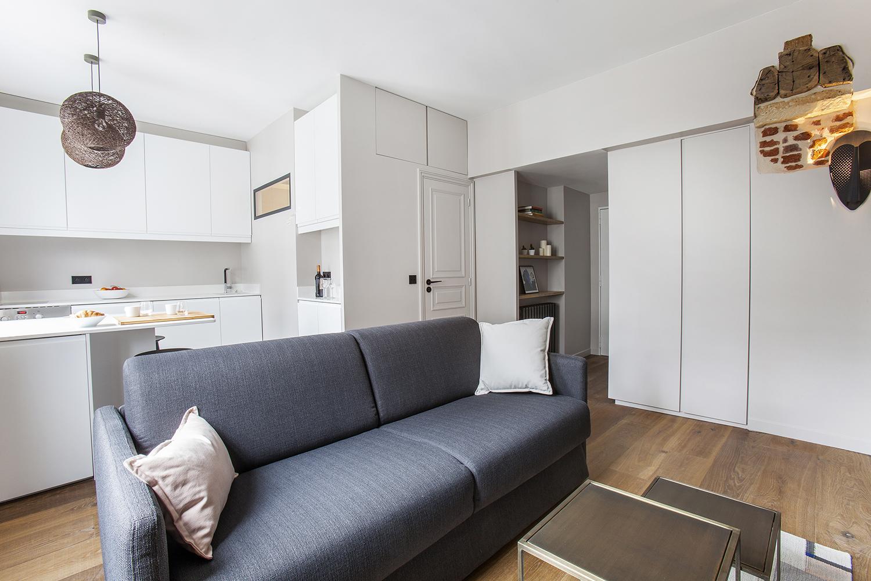 studio paris 6 me 30m2 ouest home entreprise g n rale et architecture d int rieur paris. Black Bedroom Furniture Sets. Home Design Ideas