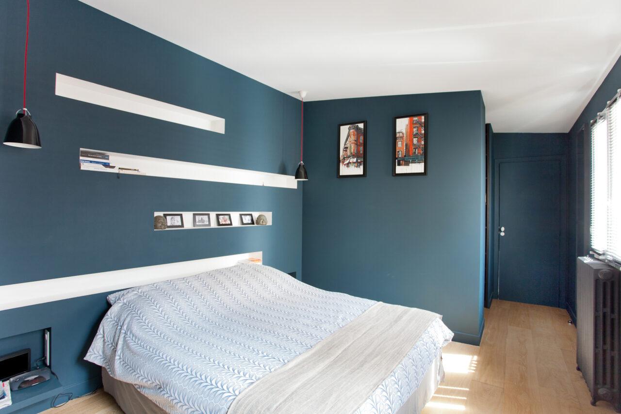 Chambre Master niche tête de lit