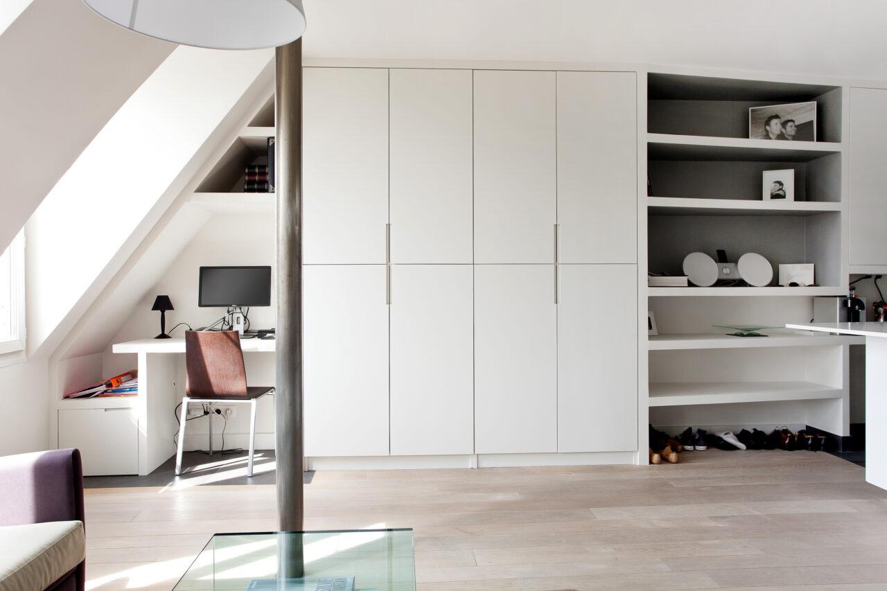 meuble portes blanches