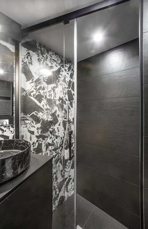 Carrelage moderne noir et blanc