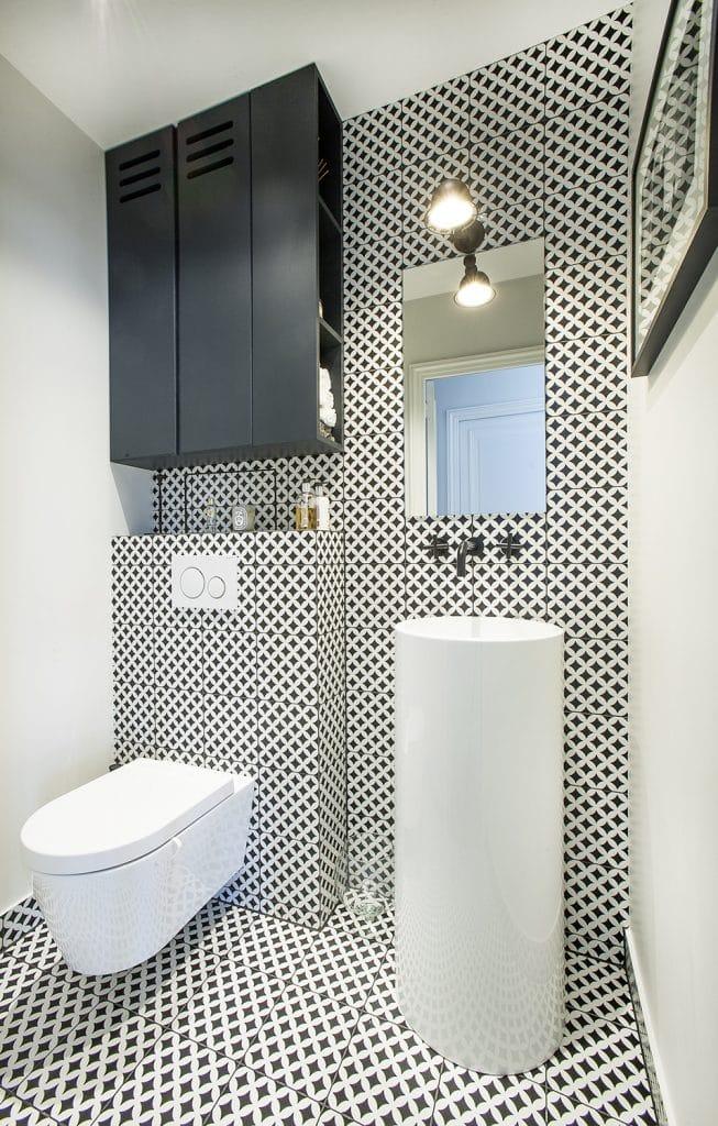 WC suspendu carrelage déco
