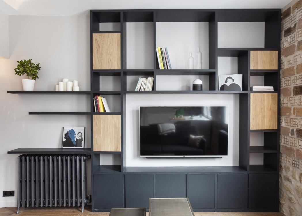 Meuble TV et bibliothèque