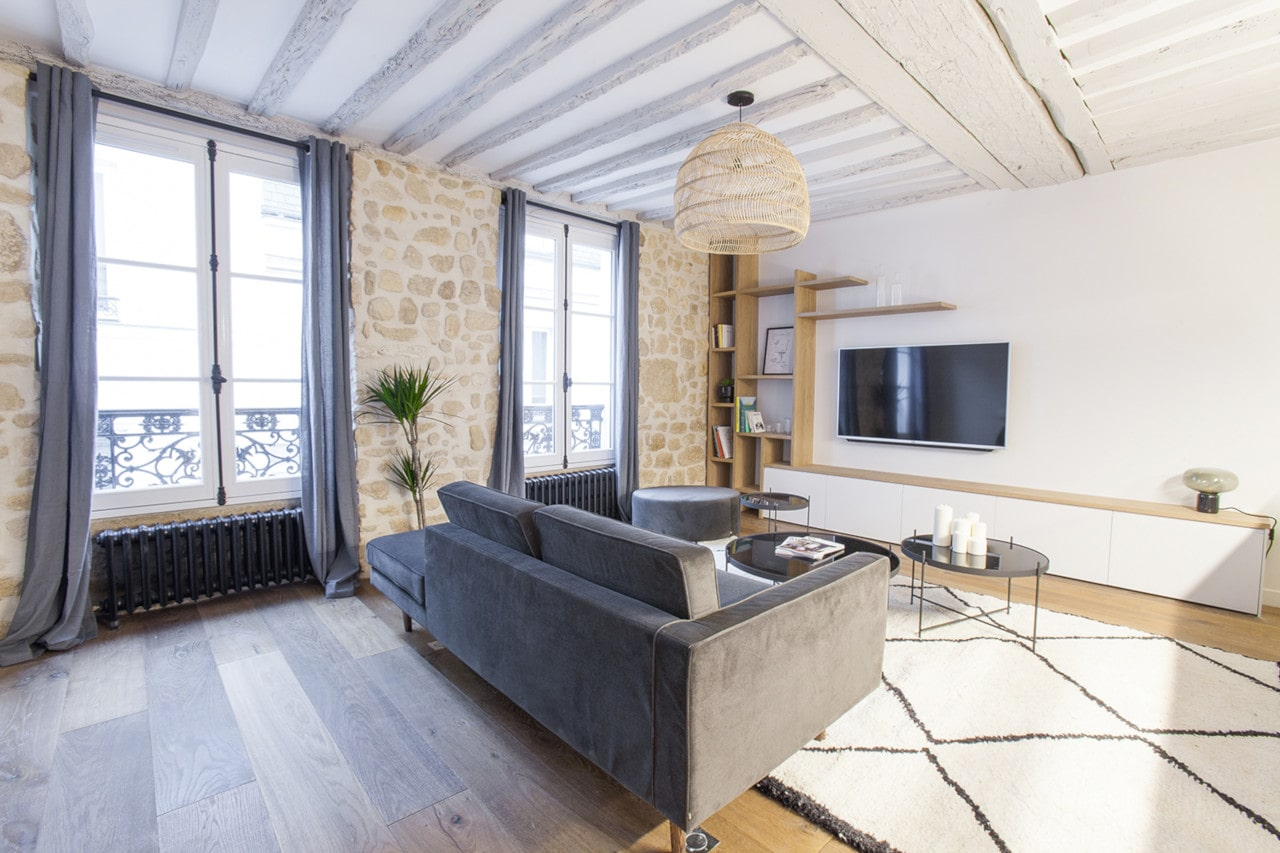 Etagere Sur Mesure Paris rénovation appartement paris 6ème - 50m2 | ouest home