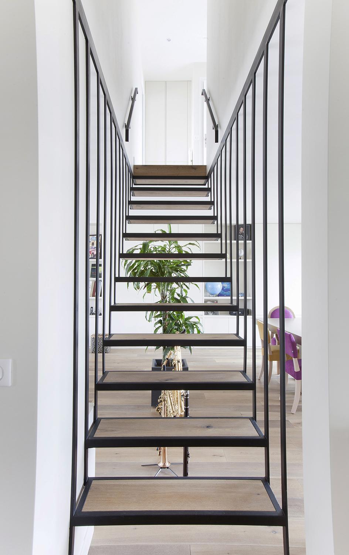 Escalier sur mesure bois et métal