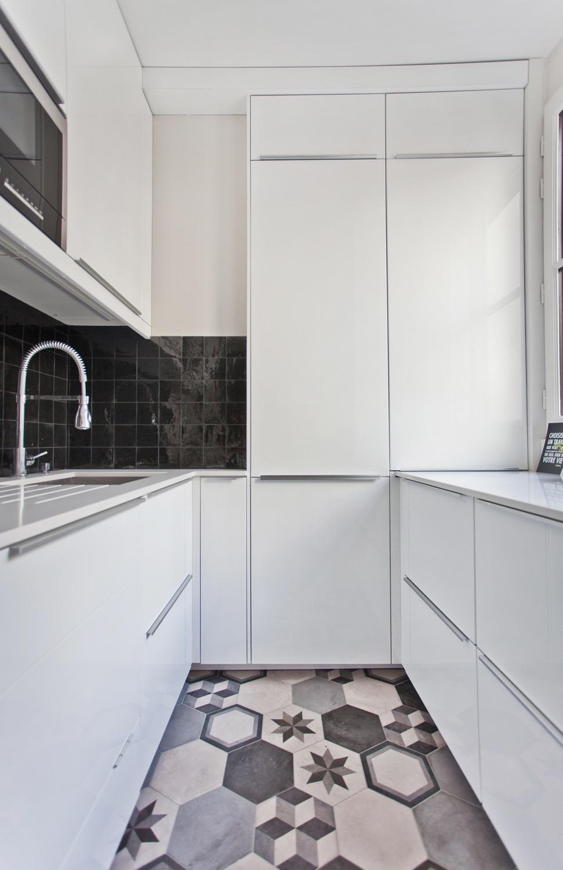 Optimiser cuisine carrelage ciment à l'ancienne