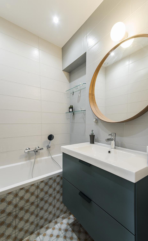 salle de bain sur mesure carreau de ciment