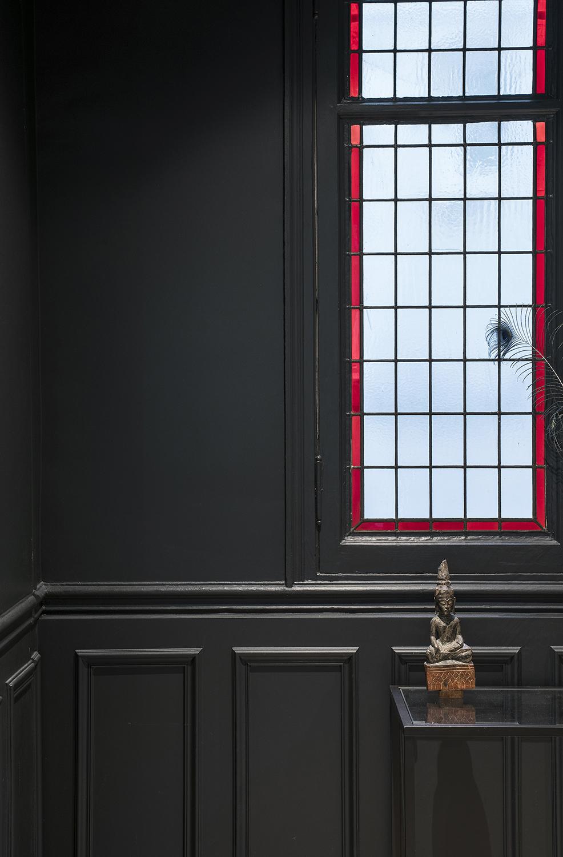 Verriere decorative sur mesure noir rouge