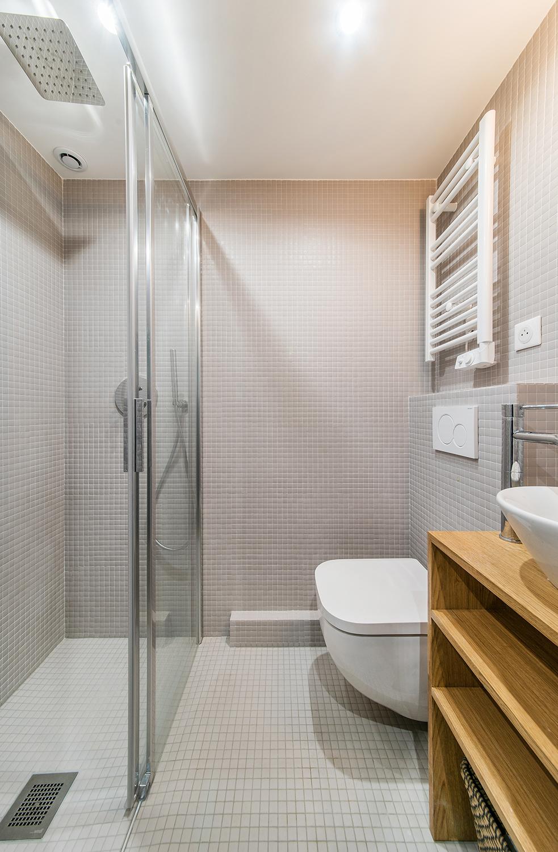 Douche italienne sur mesure mosaique