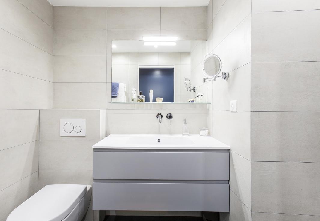 Salle de bain sur mesure carrelage beton